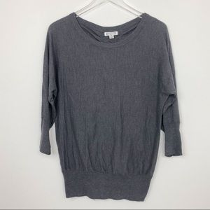 Aphorism Ruched Back Gray Knit Sweater